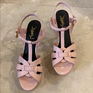 Yves Saint Laurent | Pink | Tribute Platform Heels